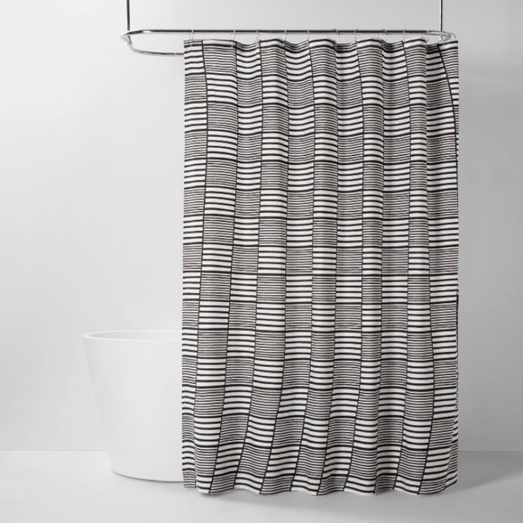 ROOM ESSENTIALS NWT colorblock stripe shower curta